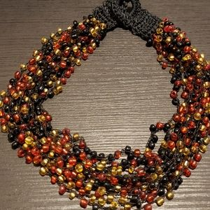 African necklace. Choker style.